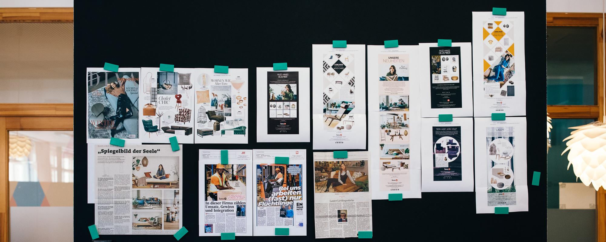 Pressemitteilungen Home24 Firmenwebsite